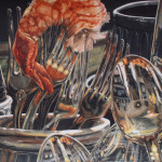 Honorable Mention-Cindy Brabec-King-Shrimp Forks-Watercolor
