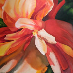 Honorable Mention-Mary Lambeth-Twisty Orange and Pink-watercolor
