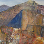 Honorable Mention-Tobi Abrams-Mountains in Gold Canyon Arizona -acrylic '