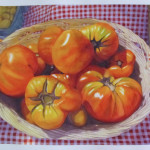 Glenda Haas _Tomatoes, West Hampton Series_-Watercolor