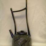 Jesse Trejo _Blue Carved Teapot_ -Ceramic