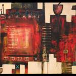 Randy Hall _Alchemist Furnace_ - Acrylic on canvas