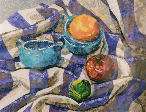21 Mixed Media Honorable Mention - Deborah Altany _Still Life on a Beach Towel_