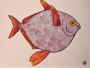 25 Printmaking Honorable Mention - Chase Gilbert _Moon Fish_